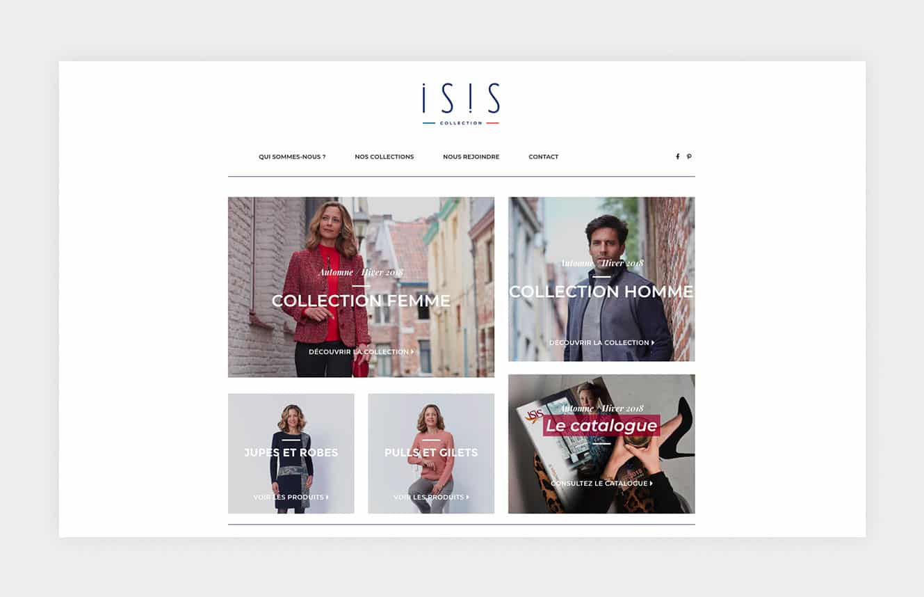 home site ecommerce isis collection