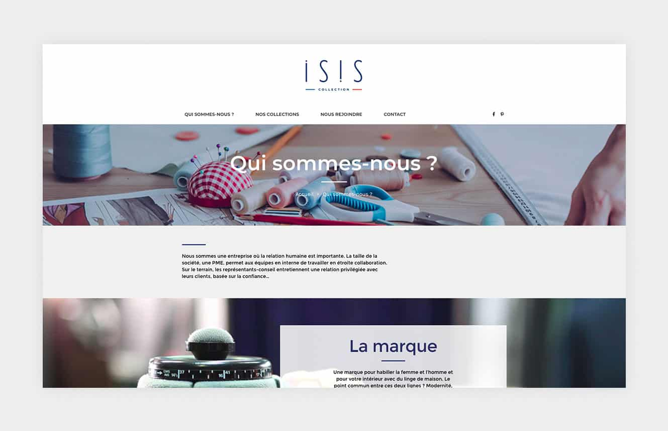 la marque ISIS collection