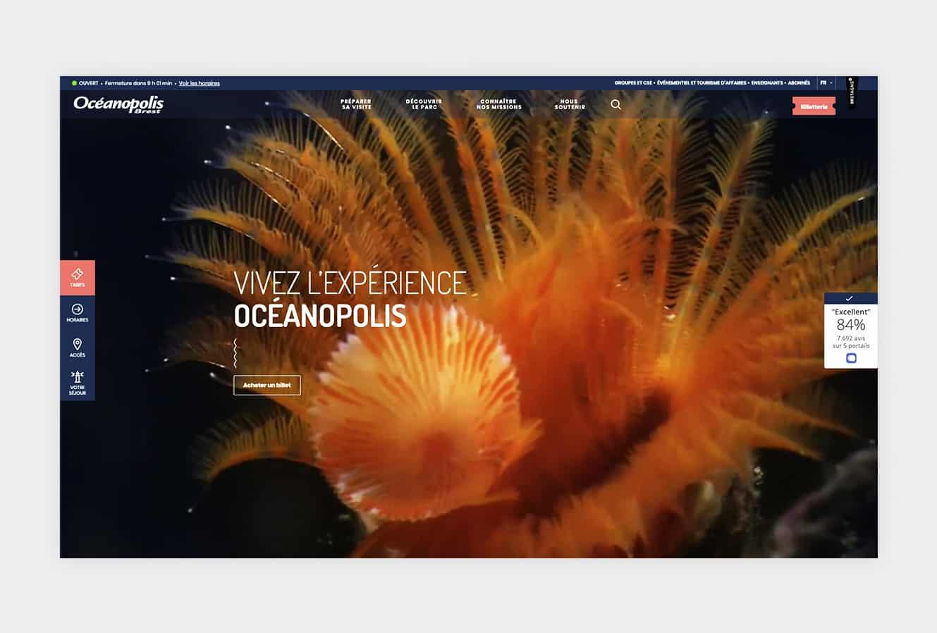 océanopolis site